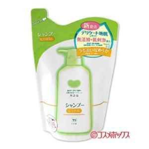 牛乳石鹸 無添加シャンプー しっとり つめかえ用 380ml カウブランド(COW)|cosmebox