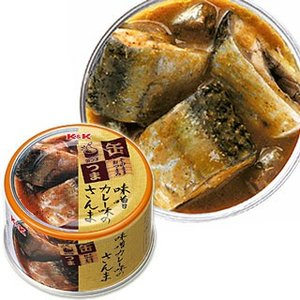 国分 K&K 缶つま 味噌カレー味のさんま 固形量80g(内容総量150g)|cosmebox