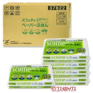 ケース販売/日本製紙クレシア スコッティ ペーパーふきん 400枚(200組)×30個 cosmebox