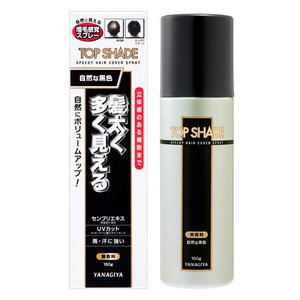 トップシェード スピーディーヘアカバースプレー 自然な黒色 150g 薄毛対策 (微粉末増毛スプレー)|cosmebox