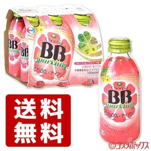エーザイ チョコラBB スパークリング グレープフルーツ&ピーチ味 140mL×6本 Eisai|cosmebox