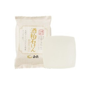 白鶴の化粧品/鶴の玉手箱 酒粕石けん 洗顔料|cosmecom