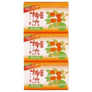 熊野油脂/薬用 柿渋石けん 3個パック|cosmecom