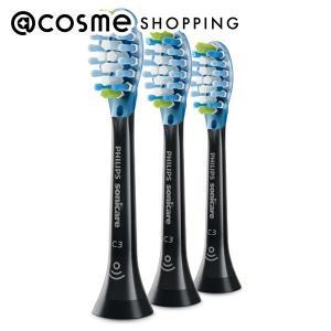 フィリップス/替ブラシ プレミアムクリーンブラシヘッド  3本 HX9043/96(ブラック) 歯ブラシ|cosmecom