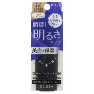 エルシア/プラチナム 明るさアップ リキッドファンデーション(本体/無香料 415 オークル やや暗めの自然な肌色) ファンデーション|cosmecom