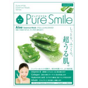 Pure Smile(ピュアスマイル)/アロエエキス フェイス用シートパック・マスク|cosmecom