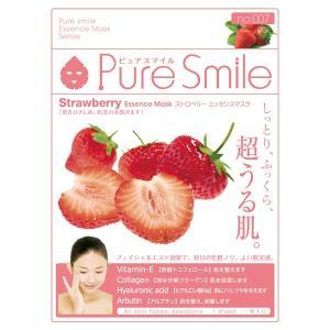 Pure Smile(ピュアスマイル)/ストロベリーエキス フェイス用シートパック・マスク|cosmecom