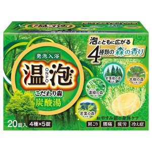 温泡/こだわり森 炭酸湯(森の香り) 入浴剤|cosmecom