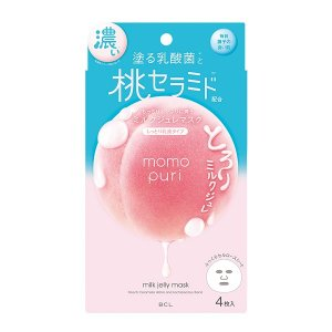 ももぷり 潤い濃密ミルクジュレマスク 4枚入り momopuri シートマスク パック