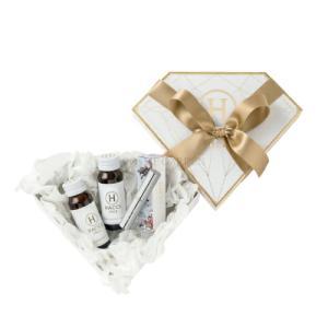 【HACCI ハッチ】 ミニダイヤモンドBOXギフトセット(ハニーコラーゲン、リップスティック) スキンケア 美容ドリンク プレゼント 贈り物 セット|cosmegarden-y