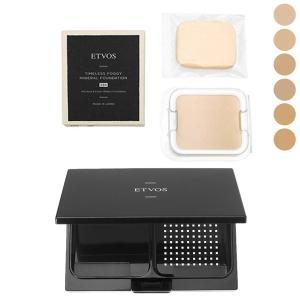 【セット】 エトヴォス ETVOS タイムレスフォギーミネラルファンデーション SPF50+/PA++++ 10g ケース付|cosmeland-hyper