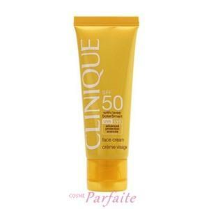 日焼け止め クリニーク SPF50フェースクリーム 50ml 宅急便対応|cosmeparfaite