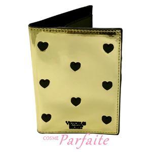 パスポートケース ヴィクトリアシークレット ブラックハートスタッズ メタリックゴールド 雑貨 メール便対応 在庫処分|cosmeparfaite