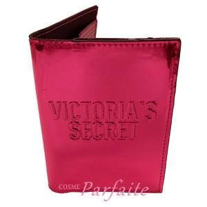 パスポートケース ヴィクトリアシークレット ステッチロゴエンボス メタリックピンク 雑貨 メール便対応 在庫処分|cosmeparfaite