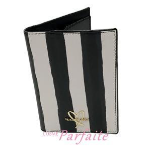パスポートケース ヴィクトリアシークレット ウォーターカラーストライプ ブラック 雑貨 メール便対応 在庫処分|cosmeparfaite