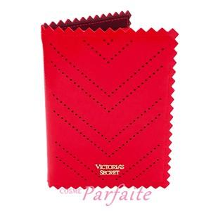 パスポートケース ヴィクトリアシークレット ピンキングカット スカーレッド 雑貨 メール便対応 在庫処分|cosmeparfaite