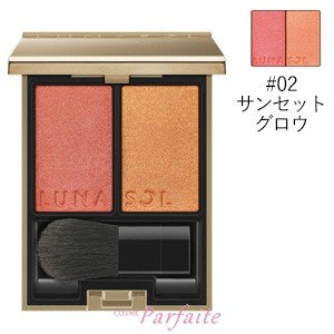 チーク ルナソル -LUNASOL- カラーリンググレイズ #02 サンセットグロウ 5.7g メール便対応 新入荷10|cosmeparfaite
