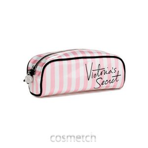 【送料無料】 ヴィクトリアシークレット・スモールバッグ ピンク/ホワイト ストライプ ポーチ|cosmetch