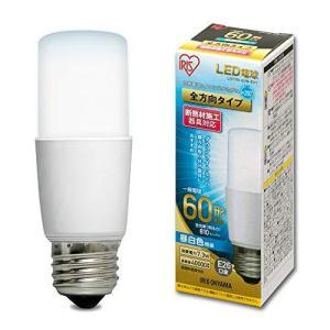 アイリスオーヤマ LED電球 口金直径26mm E26 T形 全方向タイプ 60W形相当 昼白色 LDT7N-G/W-6V1 1)単品の画像