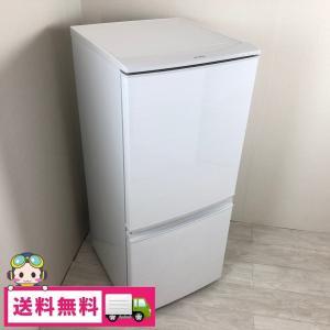 中古 137L つけかえどっちもドア ホワイト 2ドア冷蔵庫 シャープ 自動霜取りファン式 SJ-D14C-W 2017年〜2018年製造 おまかせセレクト|cosmo-space