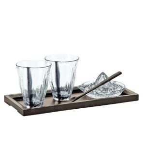 東洋佐々木ガラス 日本製タンブラー 焼酎ギフト 和風クリアブラック系 ガラ ロックグラス