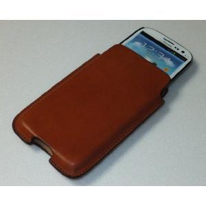 Leather field SEFIA オイルドレザーベルトオン スマートフォンケース ギャラクシーS4 特注サイズ|cosmos