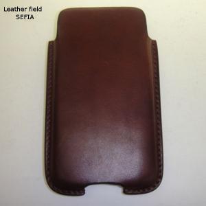 Leather field SEFIA オイルドレザーベルトオン スマートフォンケース|cosmos