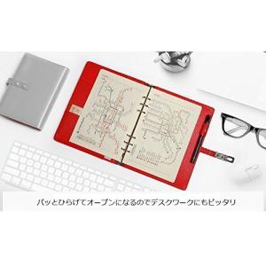3[tre] 馬蹄 型 デザイン ロック システム 手帳 カバー A6 サイズ 6穴 スケジュール ...