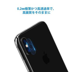 Nimaso iPhoneXS/iPhone XS Max 用 レンズ保護カメラフィルム4枚組ガイド...