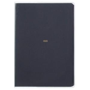 ラコニック 手帳 2019年 B6 マンスリー コットン ネイビー LXM09-170NV (201...