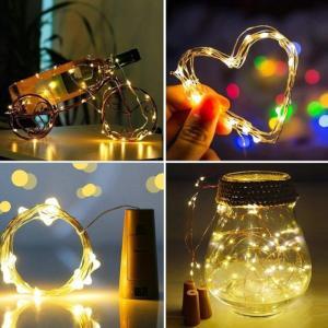 ワインコルク型LEDケーブル 封筒郵送 LED ライト イルミネーション 装飾 ワイヤーライト 映え ハロウィン クリスマス ジュエリーライト 照明 飾り パーティー|cosplay-outlet