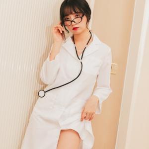 コスプレ ハロウィン ドクター 先生 ナース コスプレ 衣装 3点セット 女医  ハロウィン 衣装 白衣|cosplay-outlet