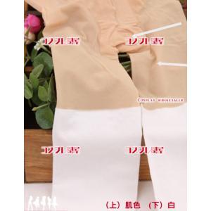 ニーハイ風タイツ・ニーハイ風ストッキング・フェイクタイツ・フェイクストッキング 白 コスプレ衣装|cosplaydonya|05