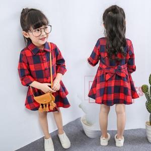 ロングシャツ ワンピース 子供服 キッズ 女の子 新作 可愛い 人気 通学 長袖 通園 チェック柄BH1213-AL165 cosplayshop
