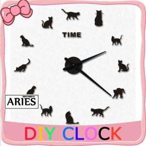 時計 キット 手作り 掛け時計 壁掛け時計 DIY おしゃれ かわいい 壁掛け ネコ型 ファッションCBH11-AL61 cosplayshop