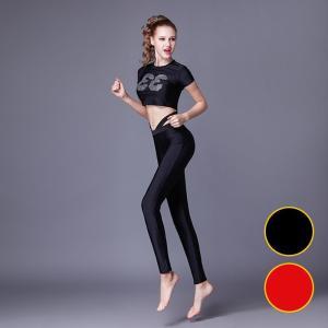 レディース ヨガウェア フィットネス ダンス服 スポーツウエア ヨガ セット 上下セット ダンス 練習用 ヨガ練習用 女性用CRTWK1-TB32|cosplayshop