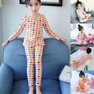 パジャマ セットアップ  2点セット 長袖 子供服 女の子 キッズ ジュニア 上下セット 春 新作 可愛い 丸襟GETC-AL33|cosplayshop