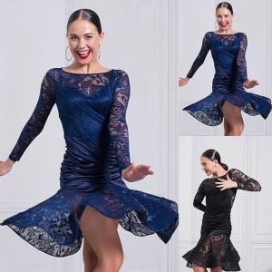 ダンス衣装 レディース ラテンダンス ステージ 社交ダンスウェア ワンピース 演出 バックレスGTW-AL188 cosplayshop