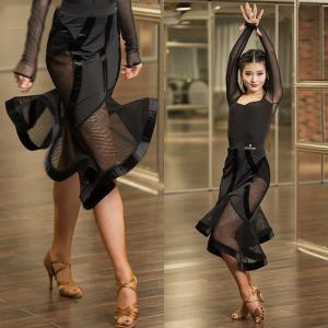 ダンス衣装 スカート レディース ラテンダンス ステージ 社交ダンスウェア 演出GTW-AL191|cosplayshop