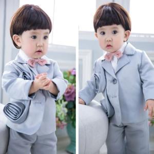 ベビー 赤ちゃん コスチューム 記念写真撮影 男の子 紳士 三点セット ジャケット+シャツ+パンツGYEC-AL450|cosplayshop