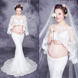 レディース マタニティ ドレス ウエディングドレス ワンピース 写真 撮影用 妊婦服 妊娠お祝い 記念写真GYEC-AL463|cosplayshop