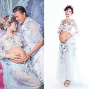 レディース マタニティ ドレス ウエディングドレス ワンピース 写真 撮影用 妊婦服 妊娠お祝い 記念写真GYEC-AL471 cosplayshop