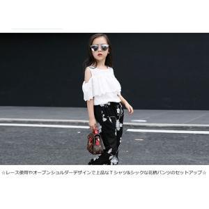 上下セット 2点セット 女の子 キッズ・ジュニア 子供服 夏 セットアップ Tシャツ パンツ 半袖 可愛いJETC1-AL123|cosplayshop|02