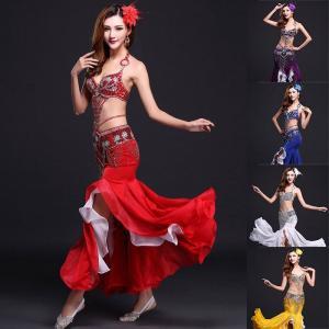 ベリーダンス レディース 演出服 ベリーダンス衣装 インドダンス ステージ衣装 演出服 公演服 舞台演出服 社交ダンス 3点セットJTWF-AL261|cosplayshop