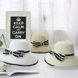 帽子 レディース 夏 新作 ストローハット 麦わら帽子 ビーチハット UVカット 日よけ 紫外線対策 日焼け対策 リゾート 海辺 可愛い リボンJZAH1-AL290|cosplayshop
