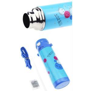水筒 子供用 魔法瓶 キッズ ボトル 直飲み 保温 通園 通学 ベルト付き ストロー付き 斜めかけ可能 可愛い 丈夫JZAH3-AL72|cosplayshop|03