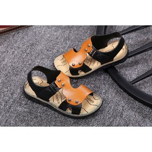 キッズ・ジュニア 子供靴 サンダル 男の子 革靴 夏 シューズ ローヒール スポーツサンダル フィットネス トレーニング ストラップ|cosplayshop|06