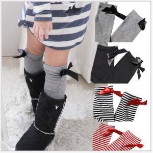 ベビー キッズ・ジュニア 子供用 女の子 靴下 ハイソックス クルーソックス フォーマル リボン付き 可愛い プリンセスNTWZ-AL05|cosplayshop