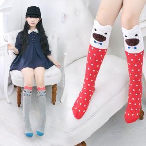 ベビー キッズ・ジュニア 女の子 靴下 ハイソックス 可愛い おしゃれ プリンセス 発表会 カートゥーン ドット柄NTWZ-AL10|cosplayshop