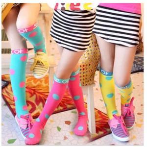 ベビー キッズ・ジュニア 女の子 靴下 ハイソックス フォーマル レース 発表会 結婚式 可愛い おしゃれ ドット柄NTWZ-AL36|cosplayshop